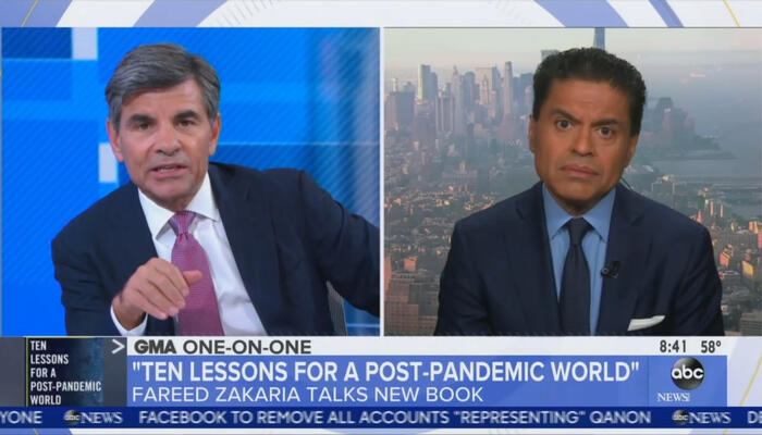 George Stephanopoulos and Fareed Zakaria