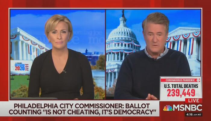 Mika Brzezinski Joe Scarborough MSNBC Morning Joe 11-09-20