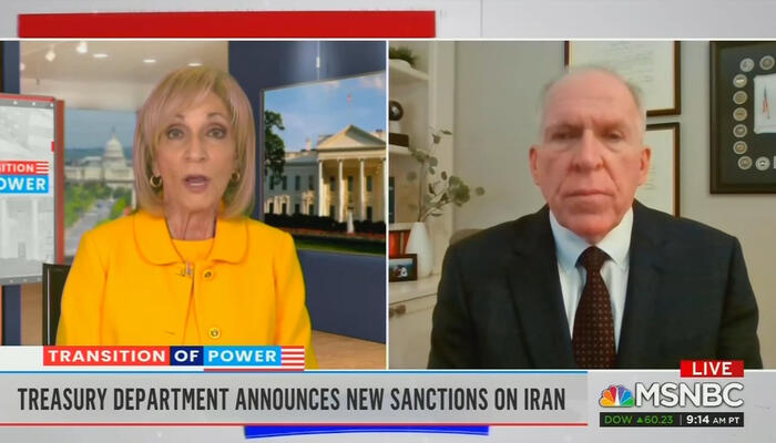 Andrea Mitchell and John Brennan