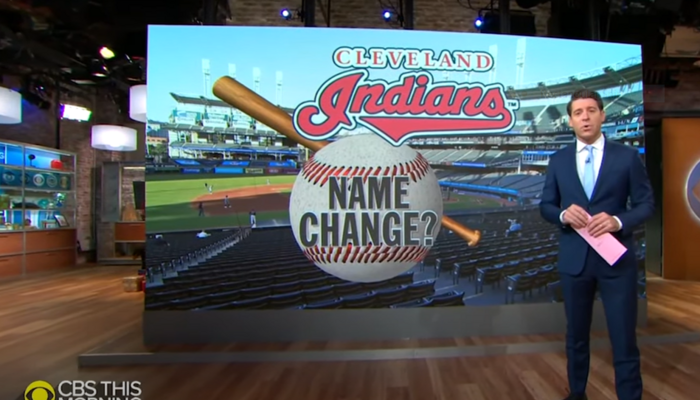 CBS News report on Indians nickname change