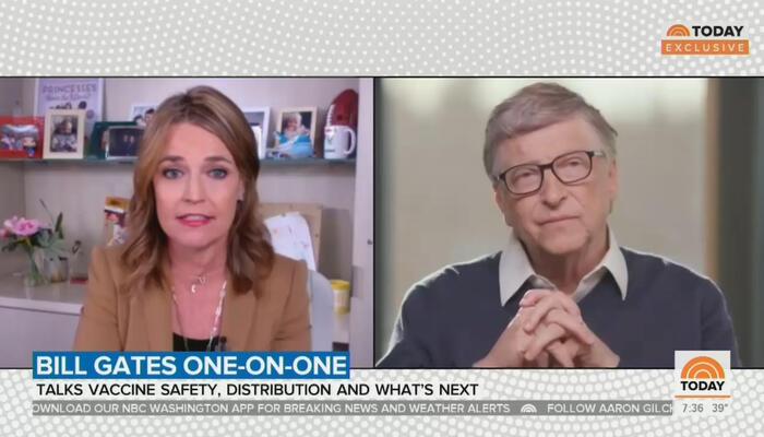 Savannah Guthrie and Bill Gates