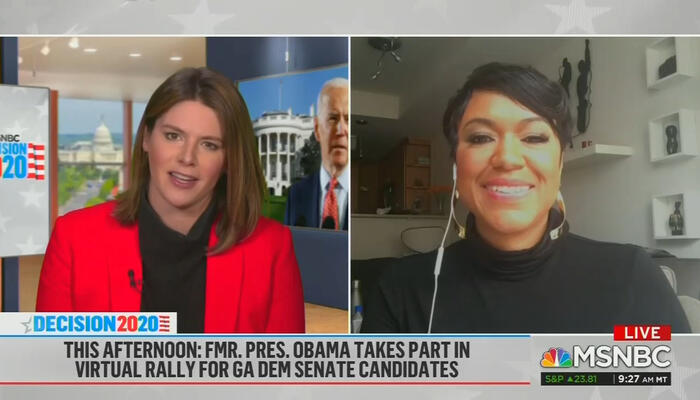 Kasie Hunt and Tiffany Cross