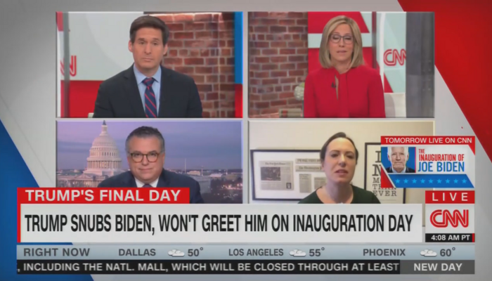 John Berman Alisyn Camerota David Chalian Maggie Haberman CNN New Day 1-19-21