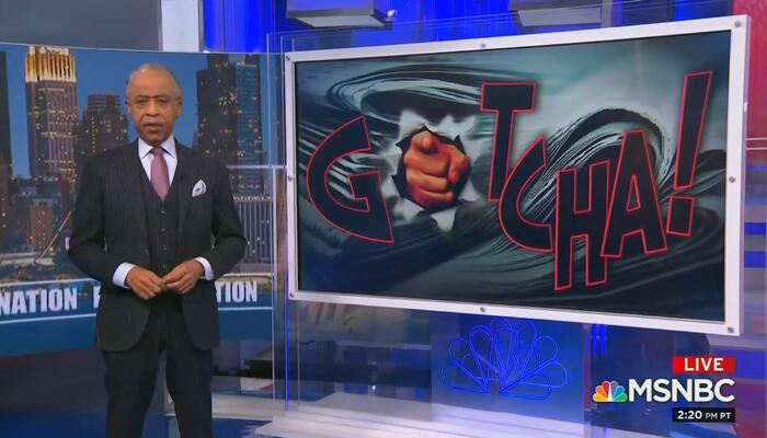 "Al Sharpton Mocks 1776 Commission During ""Gotcha!"" Segment"