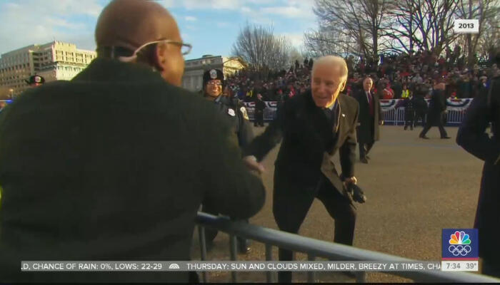 Al Roker and Joe Biden
