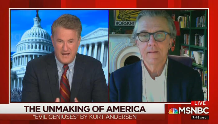 Joe Scarborough and Kurt Andersen
