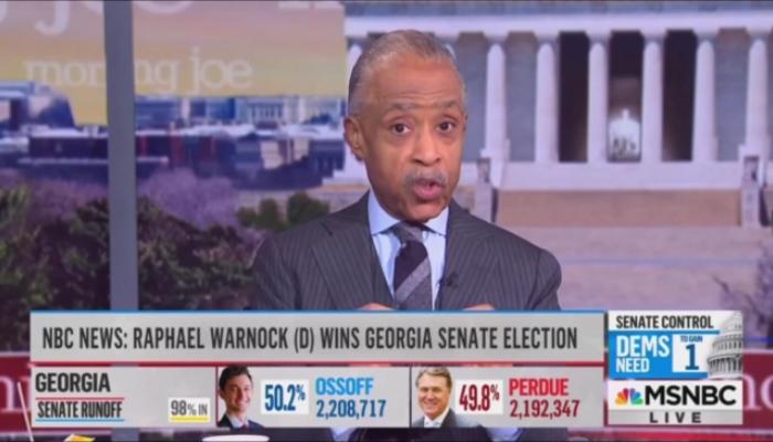 Al Sharpton MSNBC Morning Joe 1-6-21