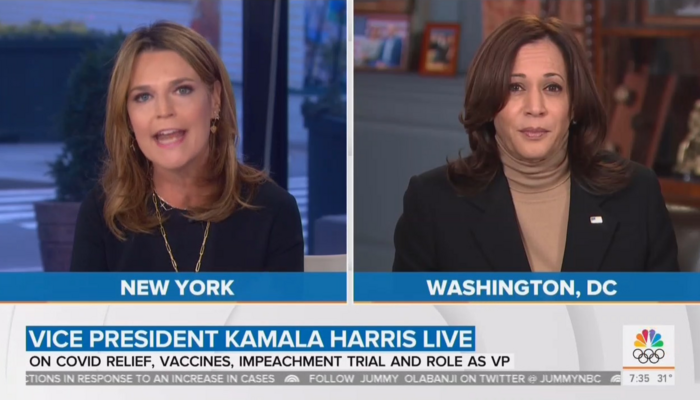 Savannah Guthrie and Kamala Harris