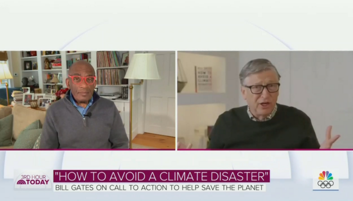 Al Roker and Bill Gates
