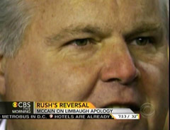 Rush Limbaugh, Talk Radio Host; Screen Cap From 5 March 2012 Edition of CBS This Morning | NewsBusters.org
