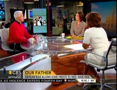 Father Edward Beck, CBS This Morning Contributor; Erica Hill, CBS News Anchor; & Gayle King, CBS News Anchor | NewsBusters.org