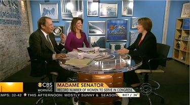Charlie Rose & Norah O'Donnell, CBS News Anchors; & Senator Amy Kobuchar, (D), Minnesota; Screen Cap From 28 November 2012 Edition of CBS This Morning | NewsBusters.org