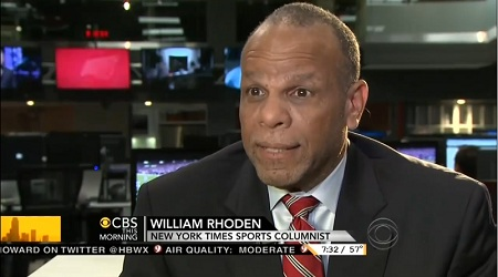 William Rhoden, New York Times Sports Columnist; Screen Cap From 4 December 2012 Edition of CBS This Morning | NewsBusters.org