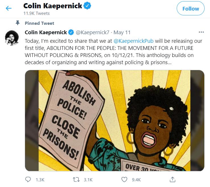 Black Death All Around Us: Kaepernick Book Demands Abolition of Police