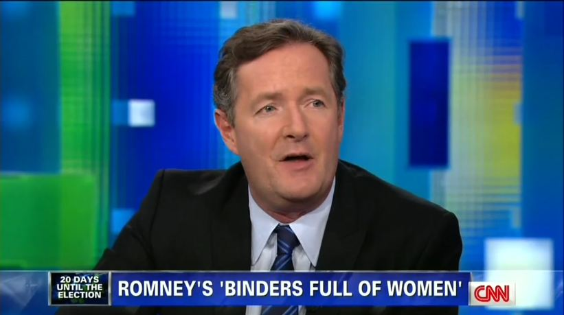 Piers Morgan Scoffs at 'Binders' Frenzy, But Other CNN Reporters Jumped All Over It