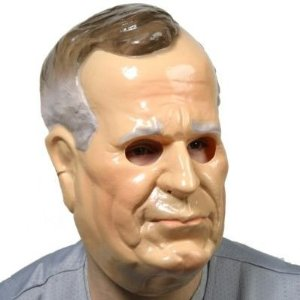 Attention Media Dummy Wearing George H W Bush Mask
