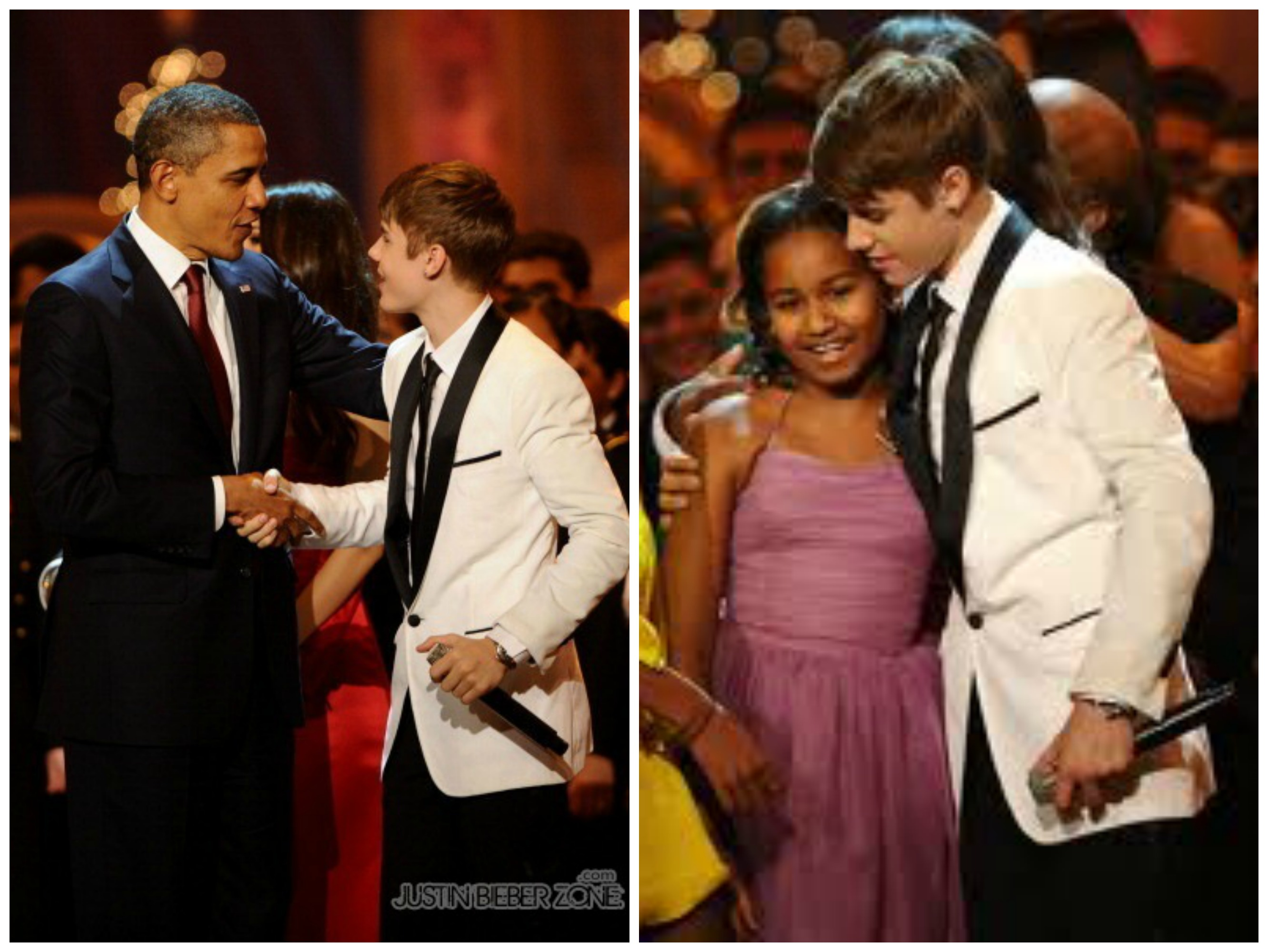 Sasha Obama And Justin Bieber