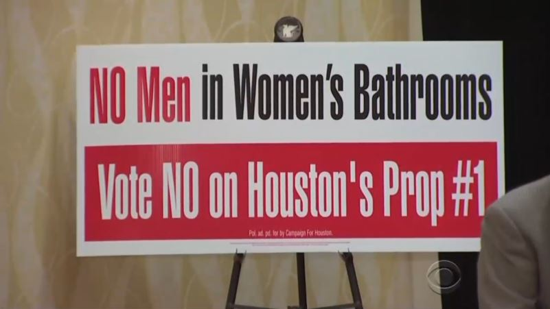 CBS Cries Foul Over Houston Rejecting Transgender Bathroom Measure; Touts  Calls For Boycotts