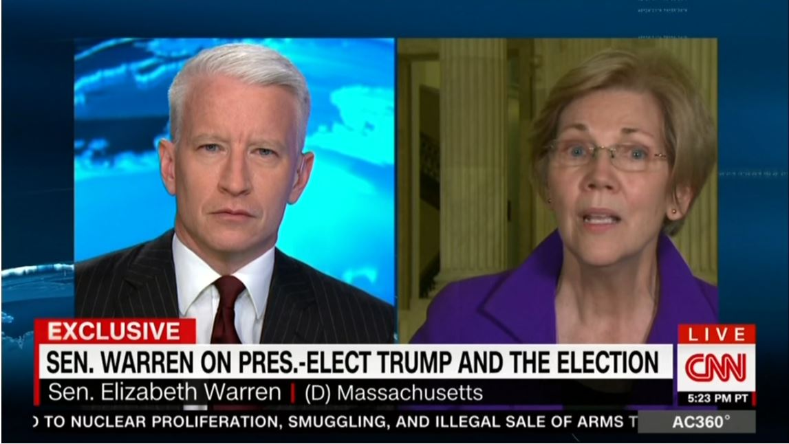 Cooper Corners Senator Warren: 'Your Message Is Not Resonating'
