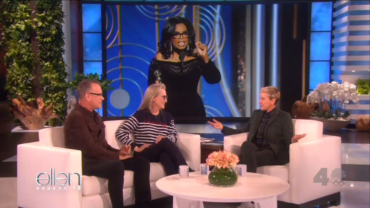 Ellen, Streep Gush Over 'Future President' Oprah: 'Where Do I Send the Check?'