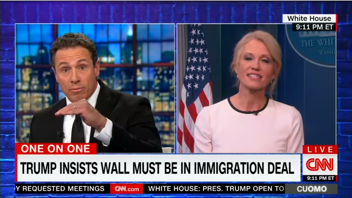 'Be an Apple, Don't Be a Banana': Conway Battles Cuomo on Border Wall
