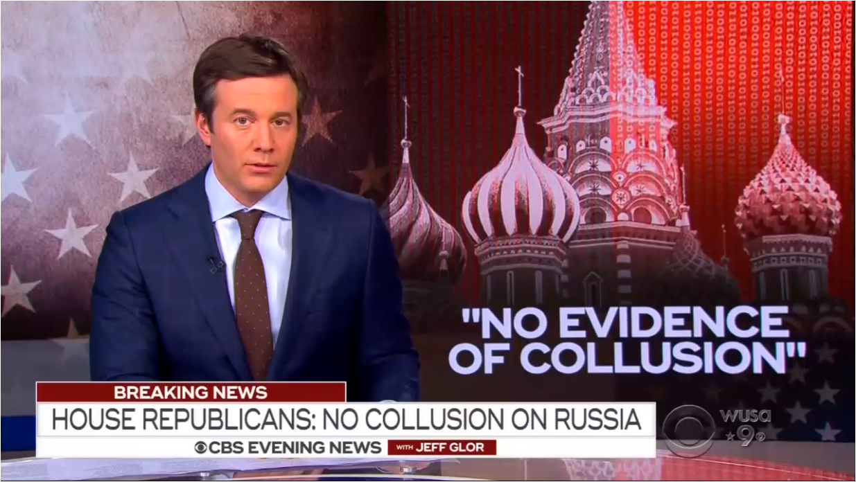 Networks Give Less than Minute to House Committees No Collusion Findings