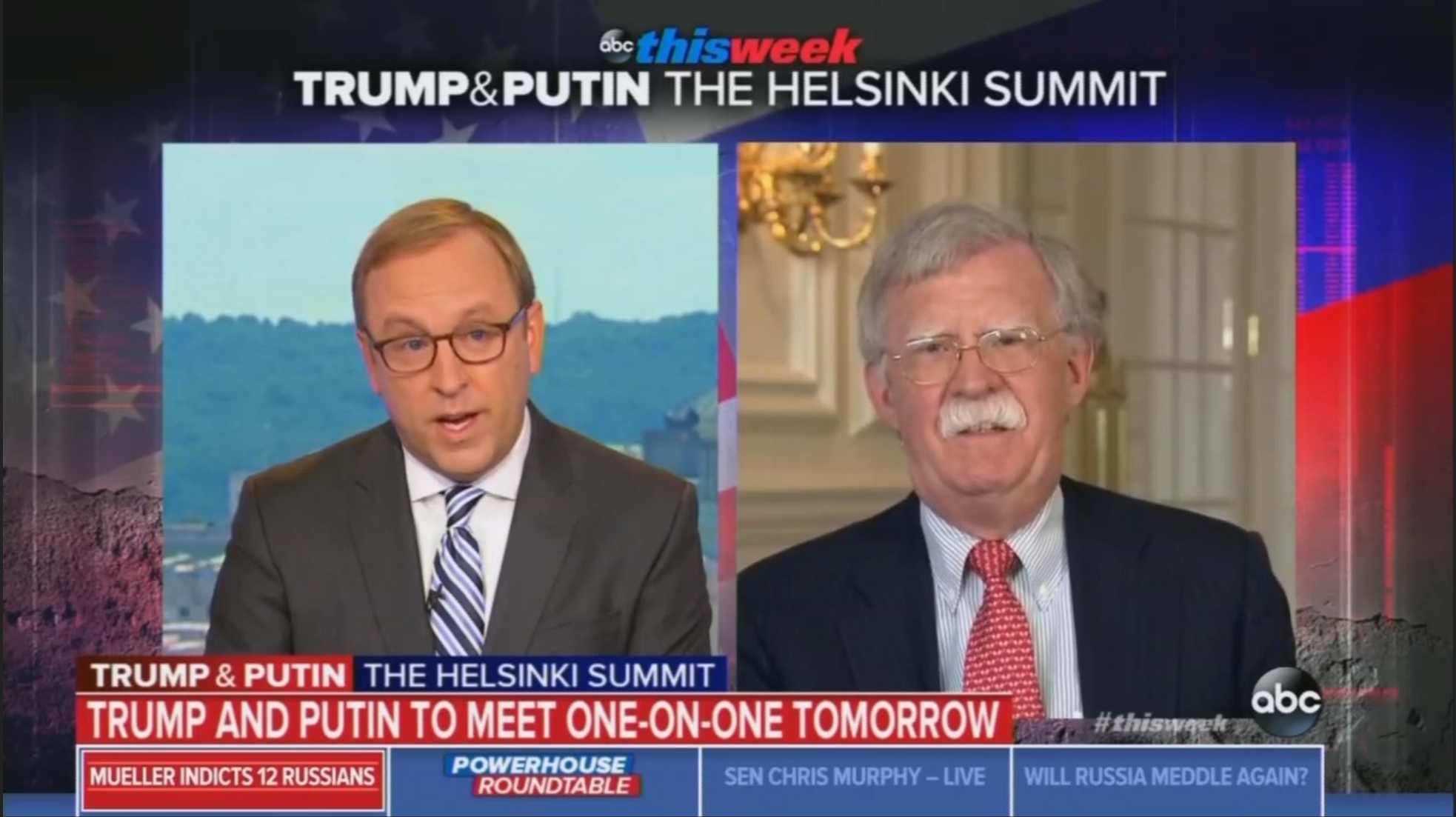 Karl to Bolton: Isnt Trump Helping Putin Oppress Murder Journalists