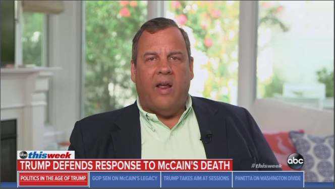 Gov. Christie Scolds ABC's 'Disrespect' of McCain With Focus on Trump