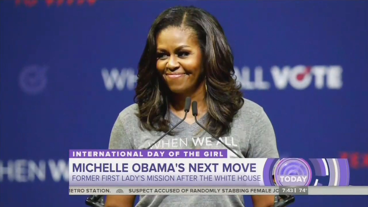 NBC Excited by Michelle Obama's Get Out the Vote Push for Democrats