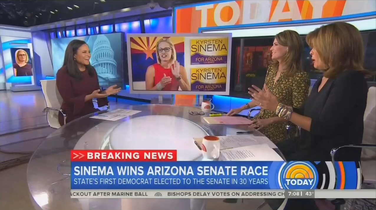 NBC Can't Contain Glee Over Dem Win in Arizona: 'This is a Wow'