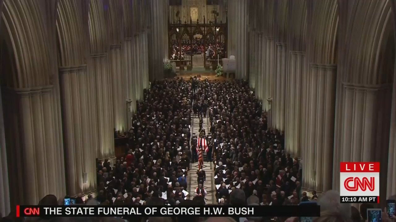Obsessed: CNN Releases Tsunami of Trump Bashing Six Minutes After Bush Funeral Ends