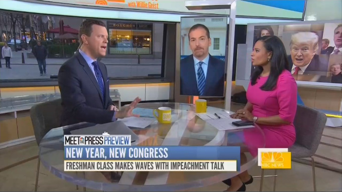 NBC Laughs About New Democrat 'Coming in Real Hot' for Trump Impeachment