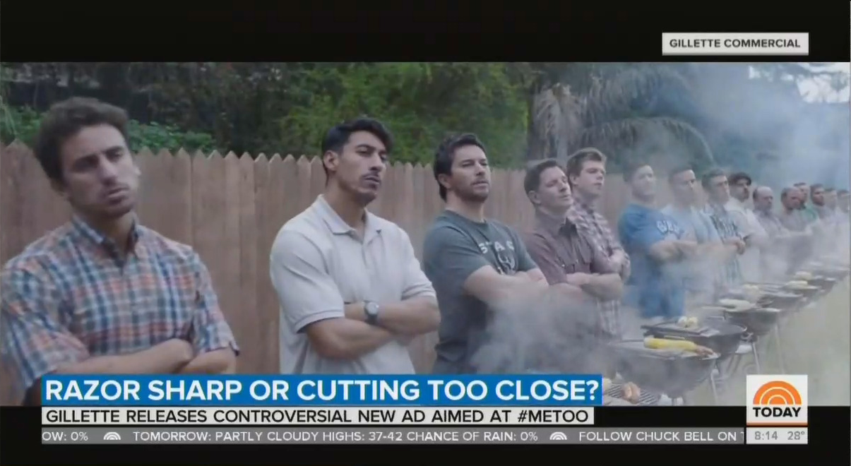 NBC Cheers Gillette Bashing 'Toxic Masculinity': 'Advertisers Are