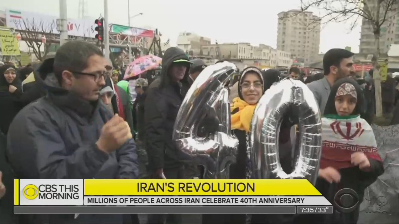 CBS Touts 'Festive Atmosphere' as Iran Marks Anniversary of Revolution