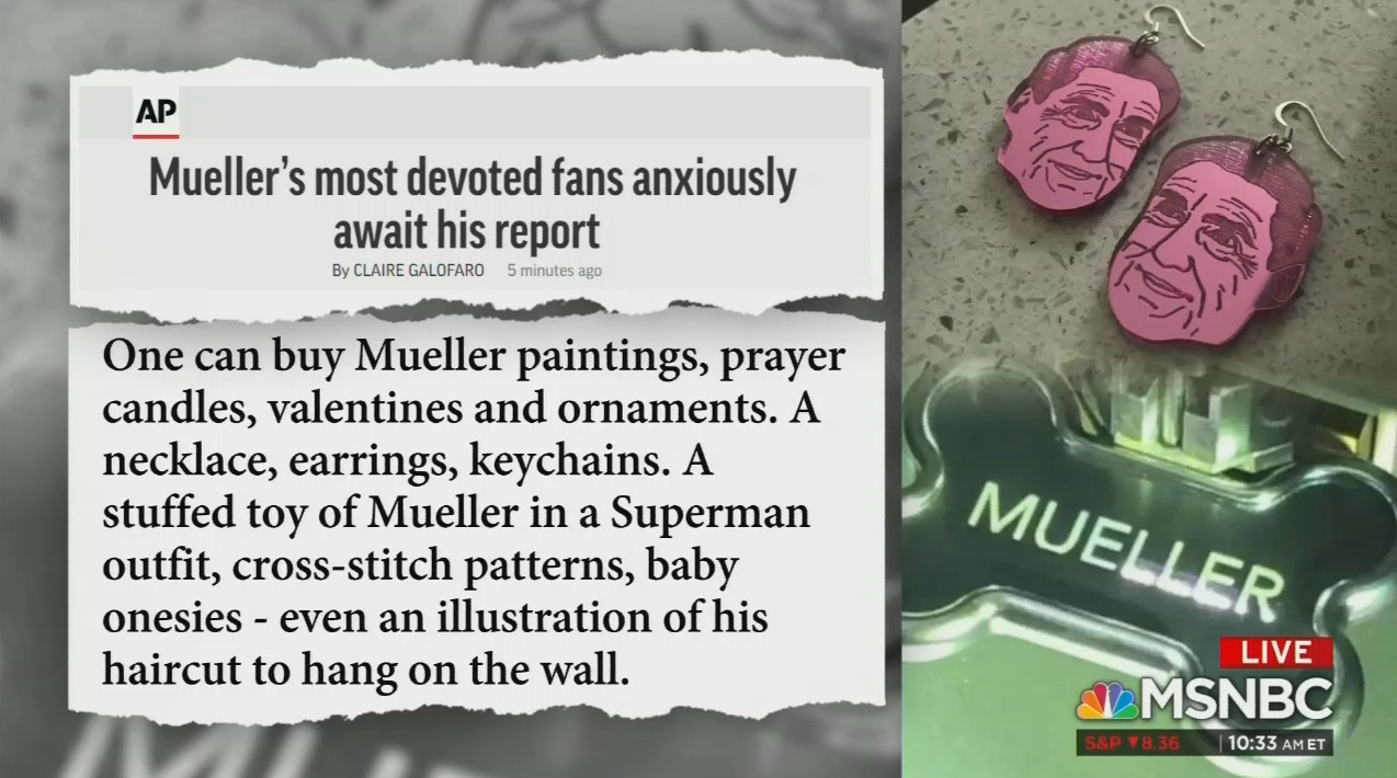 Even MSNBC Thinks Mueller 'Prayer Candles' Are Too Much