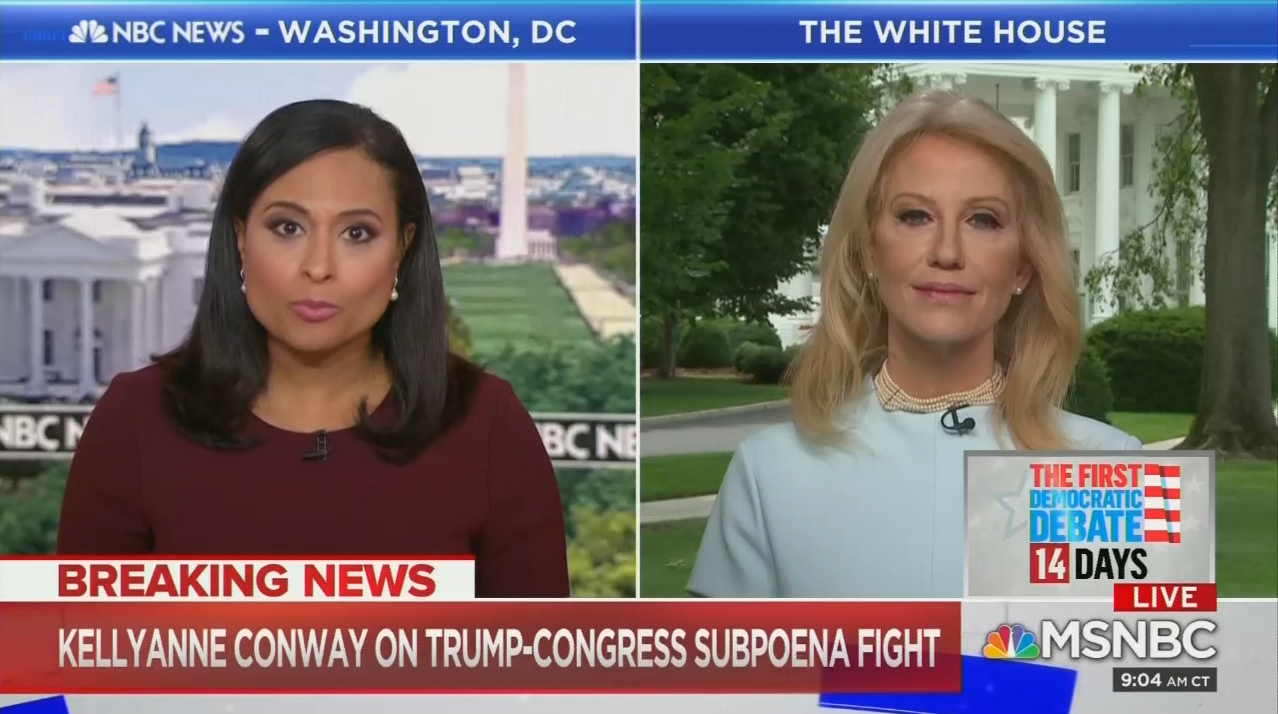 Kellyanne Conway Calls Out MSNBC for Falsely Accusing Trump of Collusion