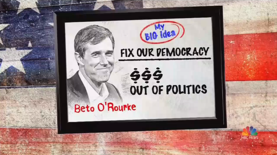 NBC Backs Beto's 'Big Idea' to Give 'Power Back to the People'
