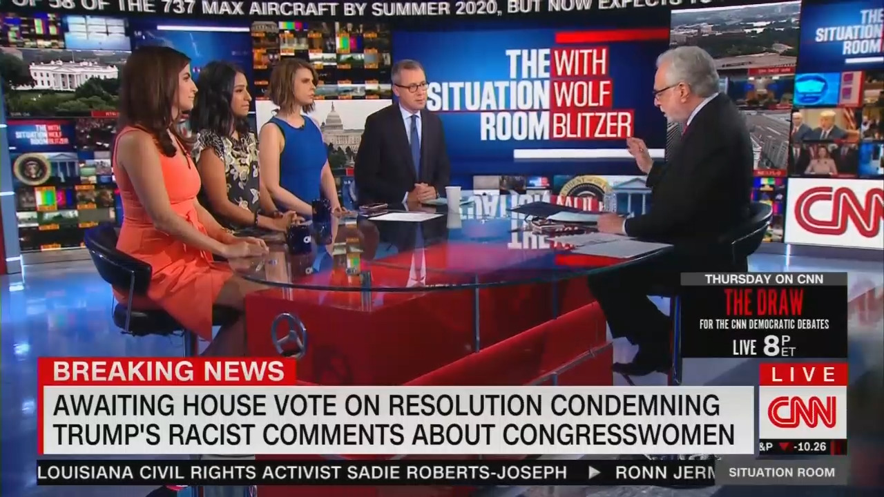 Blitzer: 'Condemning' Trump's 'Racism...Shouldn't Be a Partisan Issue'