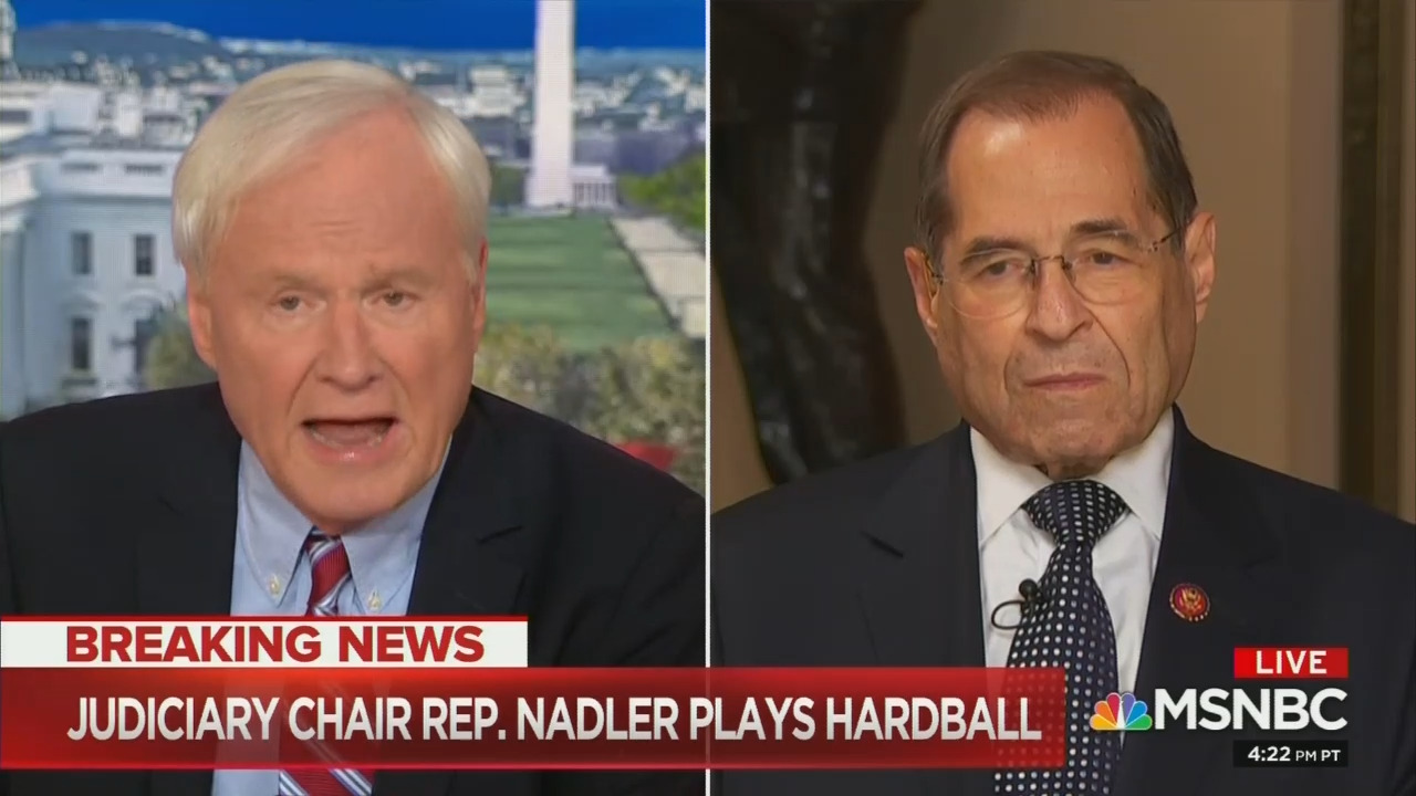 An 'Unstoppable Push'; Cranky Matthews Badgers Nadler on Impeachment