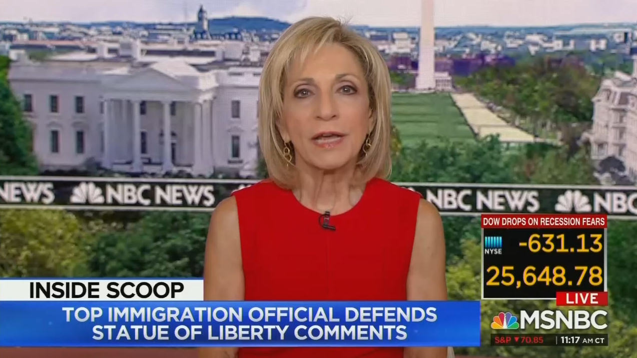 Andrea Mitchell FREAKS OUT Over 'Anti-Hispanic' Immigration Rule