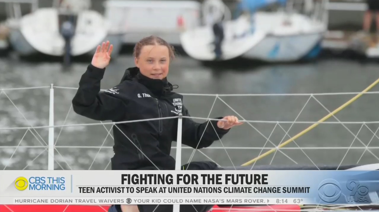 'Go, Greta, Go!': NBC & CBS 'Smitten' With Teen 'Climate Crusader'