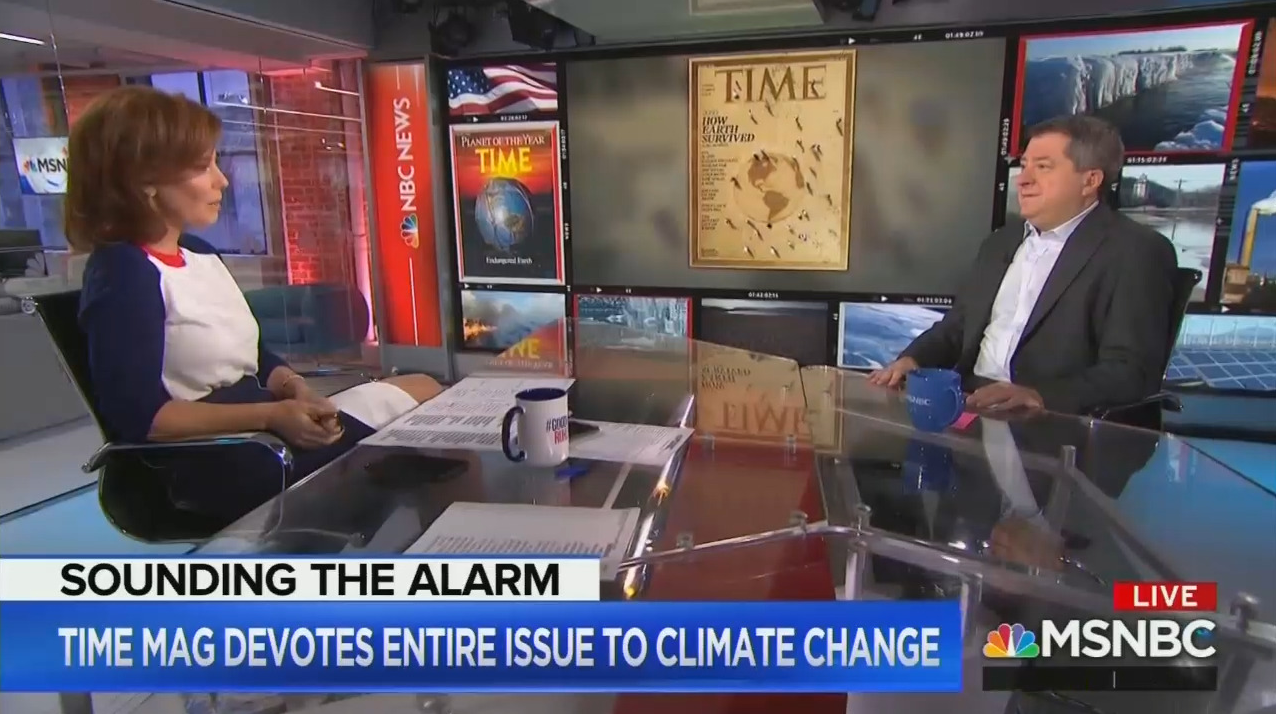 Time Editor Touts All-Climate Issue, Insists 'There Is No Other Side'