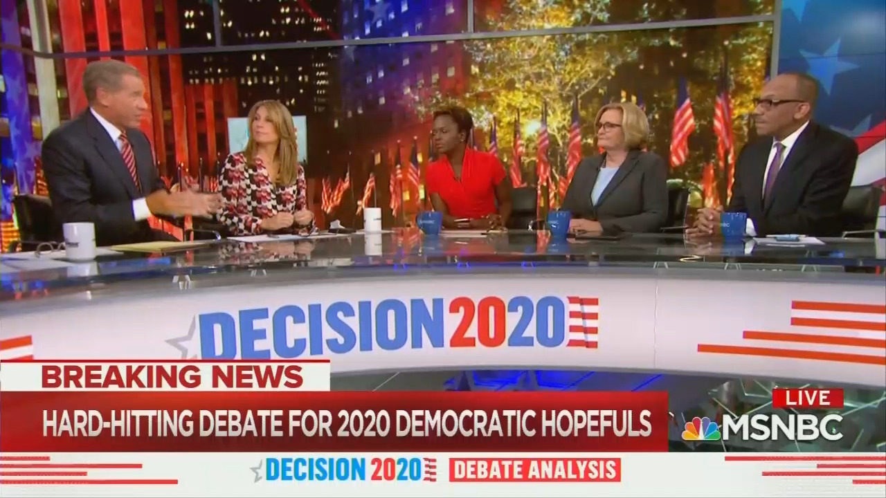 Post-Debate MSNBC Knocks 'Petulant' Warren, Ties Buttigieg to Obama