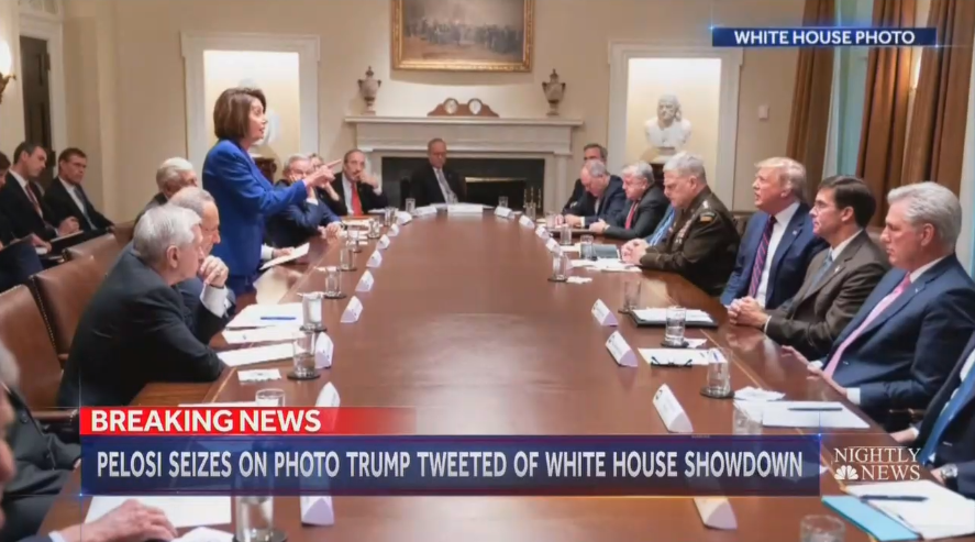 NBC's Mitchell Gushes About Photo of Pelosi Storming Out of Meeting
