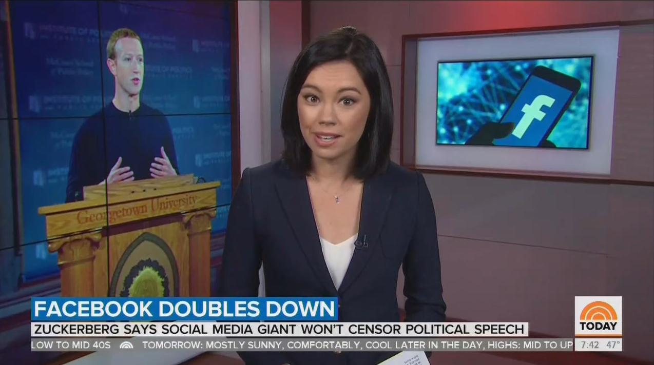 NBC & CBS Upset by Zuckerberg Refusing to Censor Political Speech