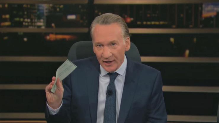 Bill Maher Offers Trump a Million-Dollar Bribe to Resign