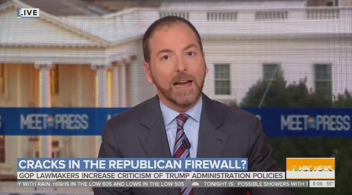 Reveling: NBC Gets Hyped By a Tough Week for President Trump