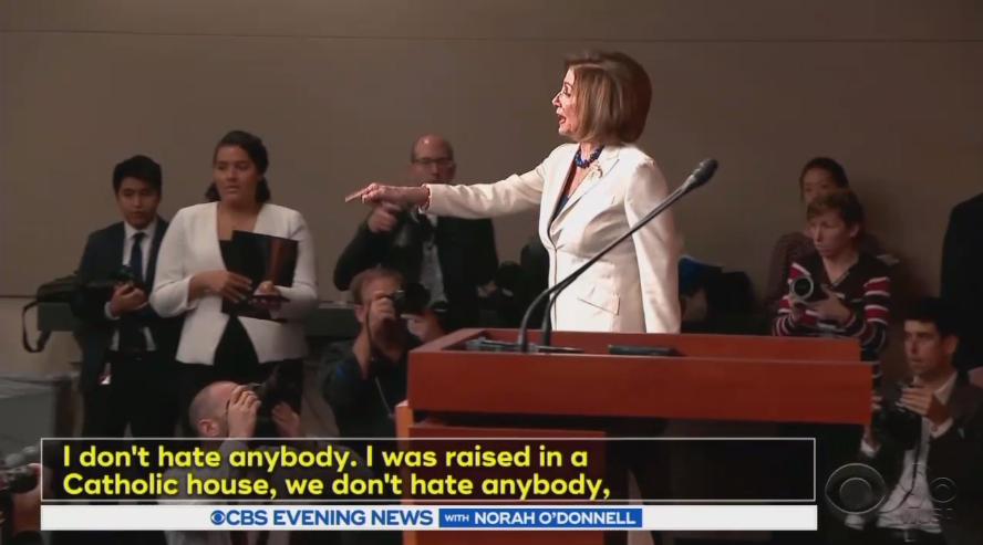 CBS, NBC Hype Speaker Pelosi Blowing Up at Sinclair's James Rosen