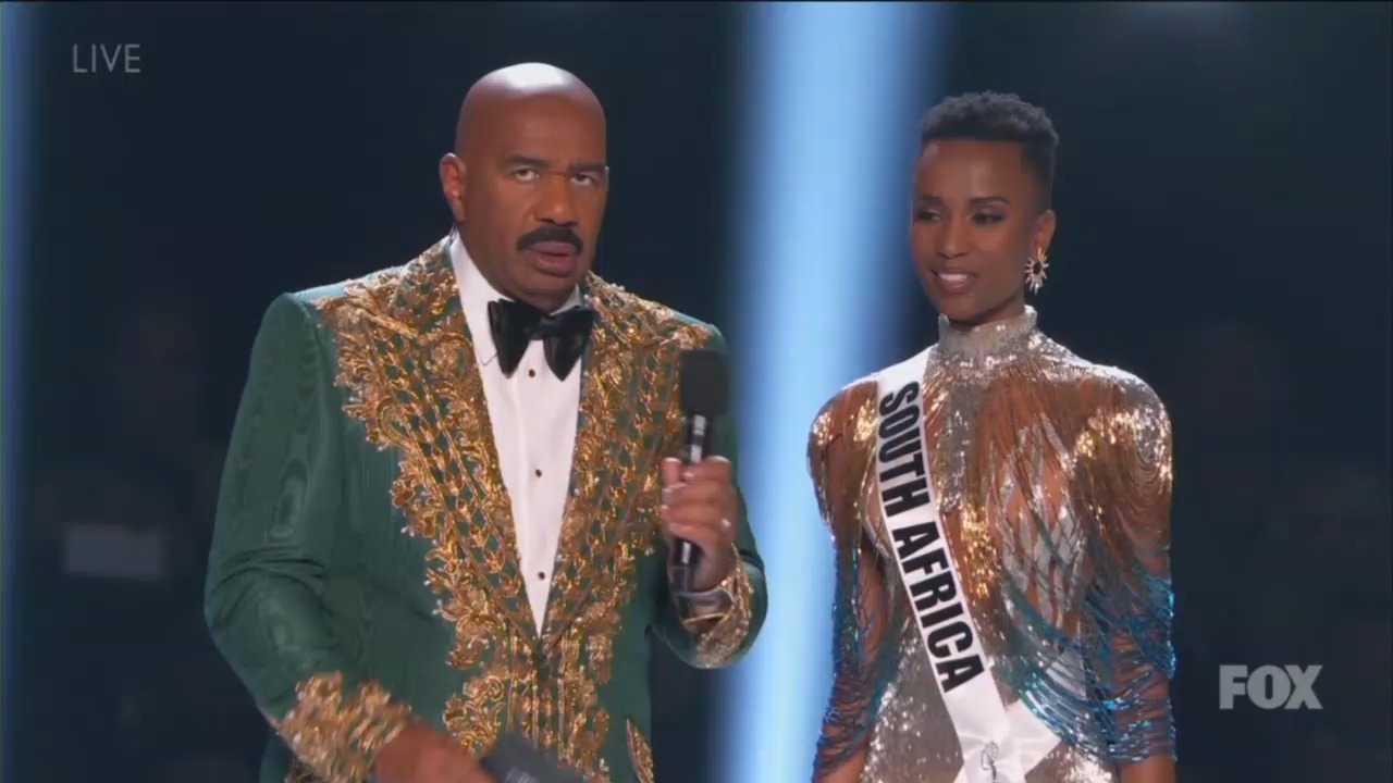 Miss Universe Says 'Planet Is Dying' After Epic Steve Harvey Eye Roll