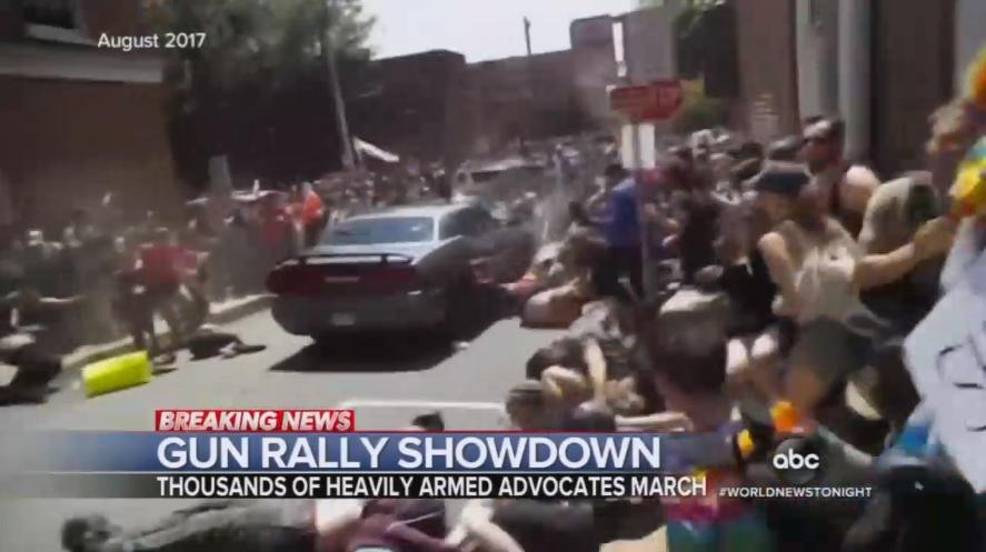 ABC, NBC Invoke Charlottesville Violence for Peaceful Gun Protest